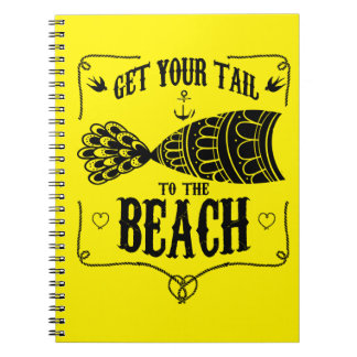 Get your tail to the beach notebook