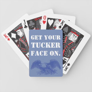 Get your Tucker face on.  Bald eagle edition. Bicycle Playing Cards