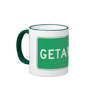 Getaway, Road Marker, Ohio, USA Coffee Mugs