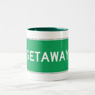 Getaway, Road Marker, Ohio, USA Mugs