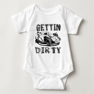 Gettin Dirty Dirt Modified Racing Baby Bodysuit