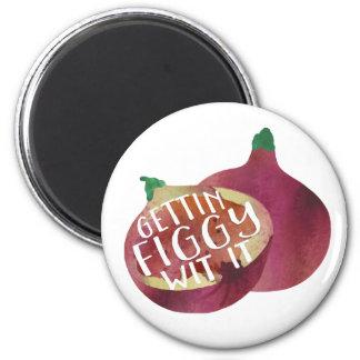 Gettin Figgy Wit It | Veggie Pun Magnet