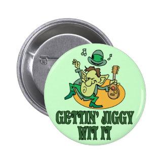 Gettin' Jiggy Wit It 2 Inch Round Button