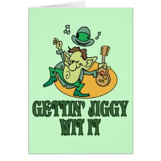 Gettin' Jiggy Wit It Note Card