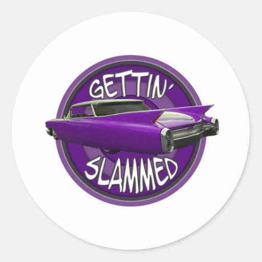 gettin slammed 1960 Cadillac Grape Sticker