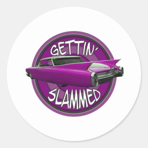 gettin slammed 1960 Cadillac pink Sticker