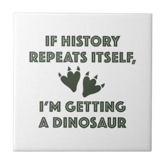 Getting A Dinosaur Tile