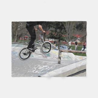 """Getting Air"" BMX Rider Fleece Blanket"