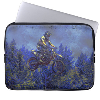 """Getting Air"" Motocross Dirt-Bike Champion Racer Laptop Sleeve"