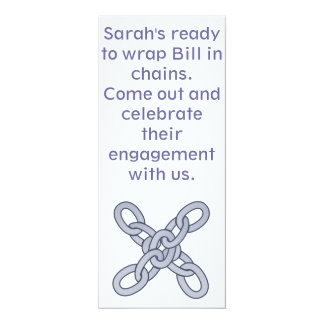 Getting Chained Engagement Party Invitation