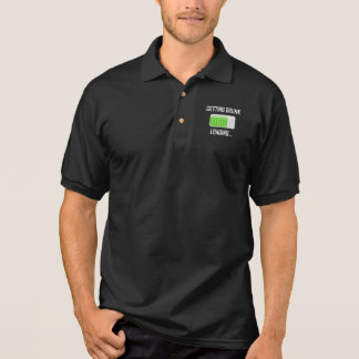 Getting Drunk Loading Funny Polo Shirt