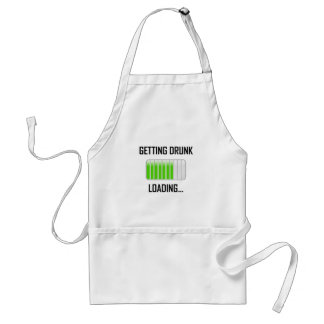 Getting Drunk Loading Funny Standard Apron