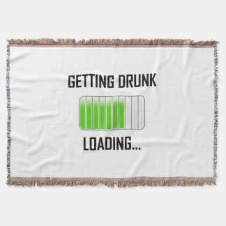Getting Drunk Loading Funny Throw Blanket