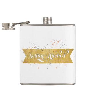 Getting Hitched Hip Flask