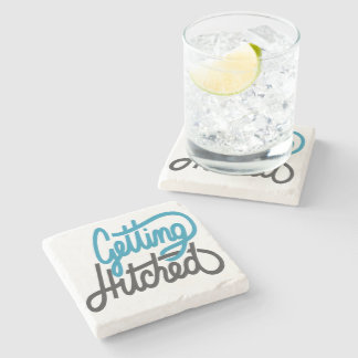 Getting Hitched Stone Coaster