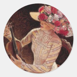 """""""Getting in Tune"""" by Sue Halstenberg Classic Round Sticker"""