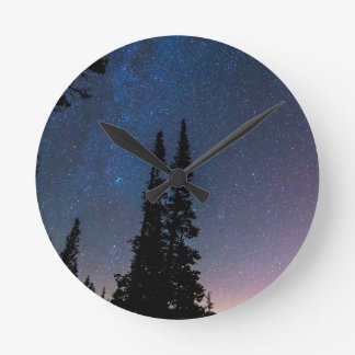 Getting Lost In A Night Sky Round Clock