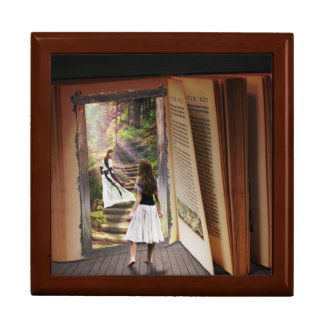 Getting Lost in imagination while reading book Gift Box