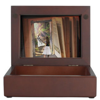 Getting Lost in imagination while reading book Keepsake Box