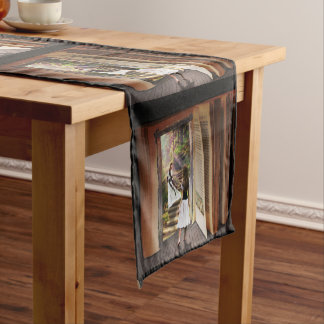 Getting Lost in imagination while reading book Short Table Runner