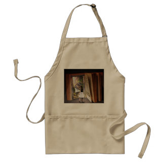 Getting Lost in imagination while reading book Standard Apron