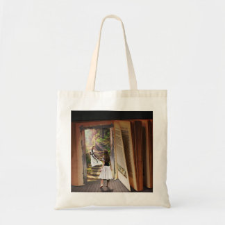 Getting Lost in imagination while reading book Tote Bag