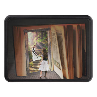 Getting Lost in imagination while reading book Trailer Hitch Cover