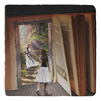 Getting Lost in imagination while reading book Trivet