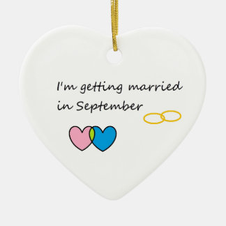 getting married 2 ceramic heart ornament