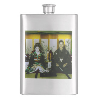 Getting Married in Old Japan The Happy Couple Hip Flask
