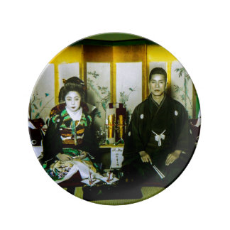 Getting Married in Old Japan The Happy Couple Porcelain Plates