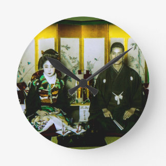 Getting Married in Old Japan The Happy Couple Wall Clocks