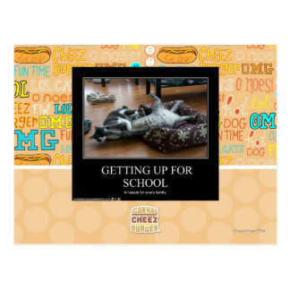 Getting Up For School Postcard