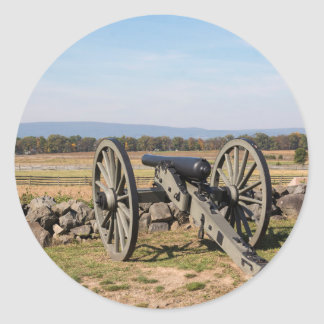 Gettysburg: A view of Pickett's Charge Classic Round Sticker