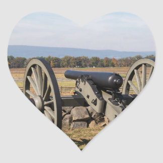 Gettysburg: A view of Pickett's Charge Heart Sticker