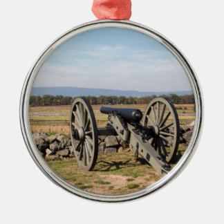 Gettysburg: A view of Pickett's Charge Metal Ornament