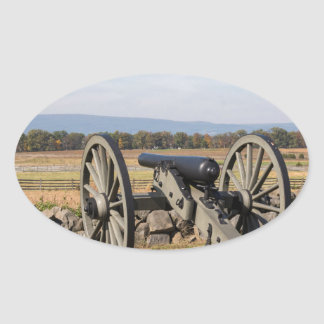 Gettysburg: A view of Pickett's Charge Oval Sticker