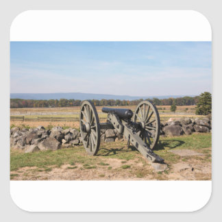 Gettysburg: A view of Pickett's Charge Square Sticker