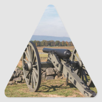 Gettysburg: A view of Pickett's Charge Triangle Sticker