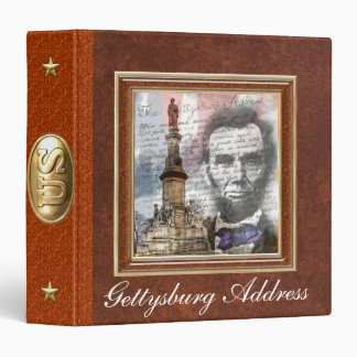 "Gettysburg Address  1.5"" 3 Ring Binder"
