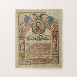 Gettysburg Address Abraham Lincoln Puzzle