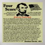Gettysburg Address Poster