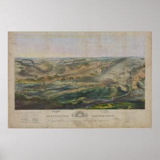 Gettysburg Battlefield by John Badger Bachelder Poster