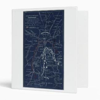 Gettysburg Battlefield Civil War Map (1863) 3 Ring Binders