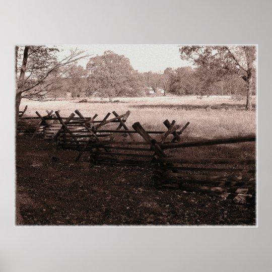 Gettysburg - Battlefield Poster #1