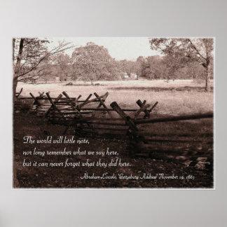 Gettysburg - Battlefield Poster #2