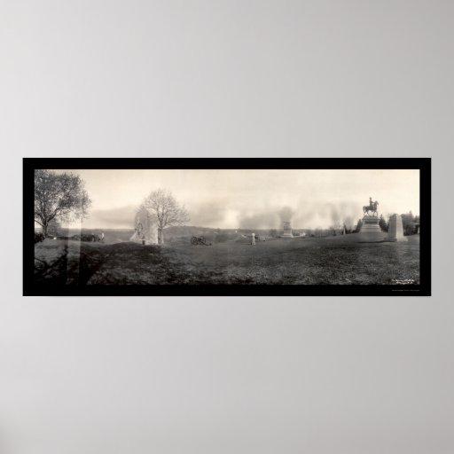 Gettysburg Cemetary Photo 1909 Poster