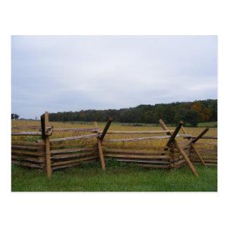 gettysburg in fall battlefield postcard