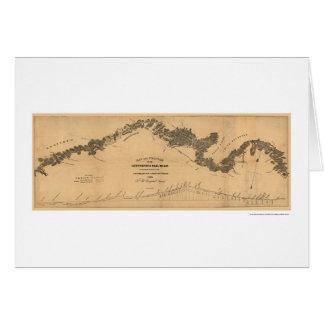 Gettysburg Railroad Map 1839 Card
