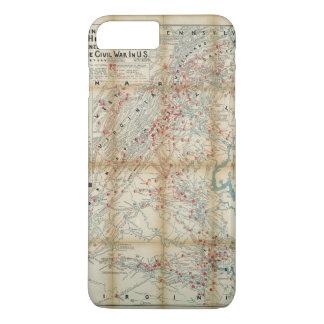 Gettysburg, Wilderness & Appomattox Civil War Map iPhone 8 Plus/7 Plus Case